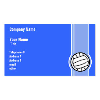 Voleibol; Azul Cartoes De Visitas