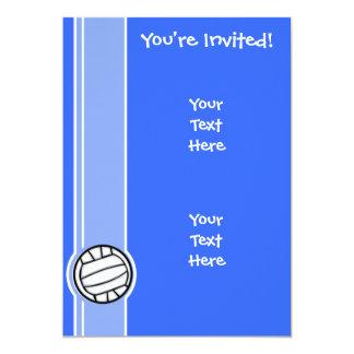 Voleibol; Azul Convite 12.7 X 17.78cm
