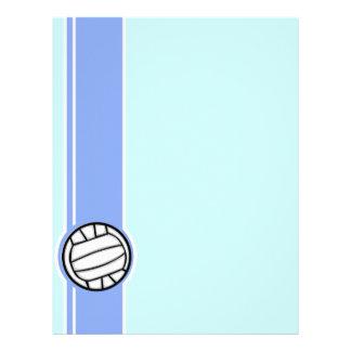 Voleibol Azul Papel De Carta Personalizados