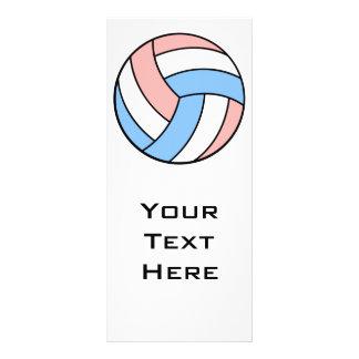 voleibol azul pastel branco cor-de-rosa modelo de panfleto informativo