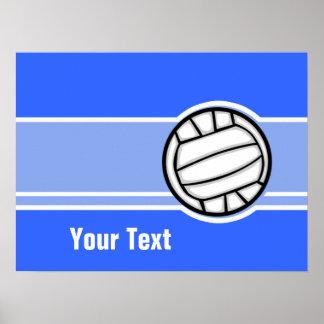 Voleibol; Azul Posteres