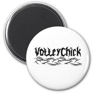 Voleibol de VolleyChick farpado Imã De Geladeira