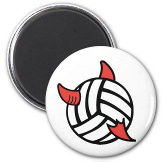 Voleibol Diablo de VolleyChick Imãs De Geladeira