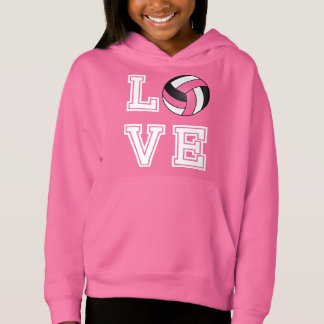 Voleibol do amor - cor-de-rosa, branco e preto