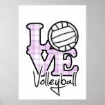 Voleibol do amor impressão
