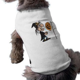Voleibol do Dia das Bruxas Camisa Sem Mangas Para Cachorro
