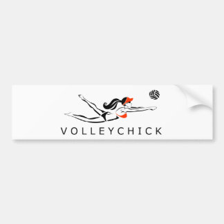 VolleyChick DiveChick 2010 Adesivo Para Carro