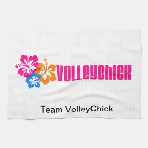 VolleyChick Hibtastic Toalhas De Mão