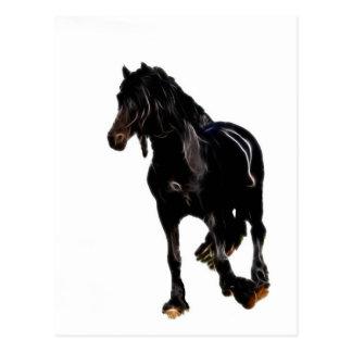 Volta repentina dos cavalos cartao postal