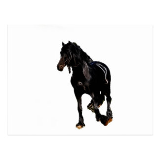 Volta repentina dos cavalos cartoes postais