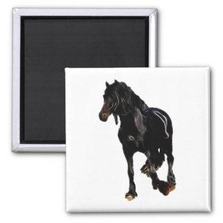 Volta repentina dos cavalos ímã quadrado