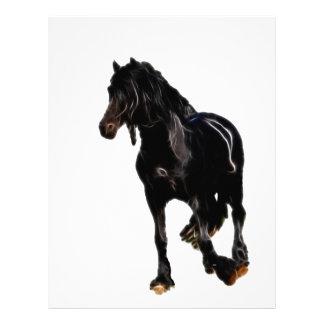 Volta repentina dos cavalos modelos de papel de carta