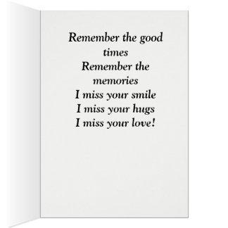 Voltado porque eu te amo cartão comemorativo
