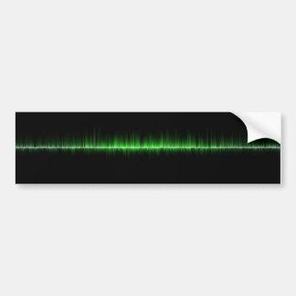 volume da ciência das ondas sadias da música adesivo para carro