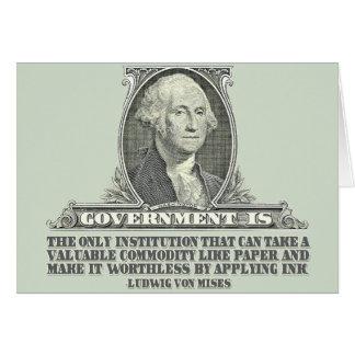 Von Mises no papel moeda Cartao
