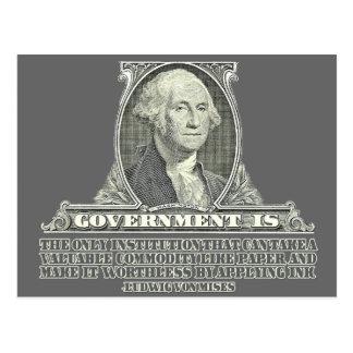 Von Mises no papel moeda Cartão Postal