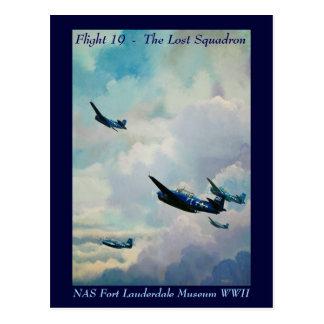 Vôo 19 - O esquadrão perdido Cartão Postal