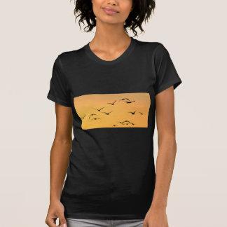 Vôo da gaivota na noite camiseta