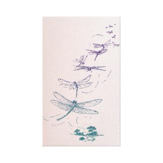 Vôo das libélulas impressão em tela canvas