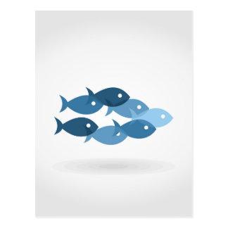 Vôo de fishes5 cartão postal