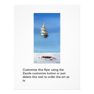 Vôo desarraigado da árvore de Natal fora do viagem Flyer 21.59 X 27.94cm