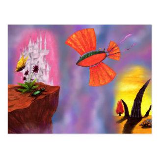vôo do dirigível com o cloudburst, mostra das cartão postal