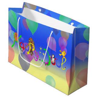 Vôo Ducky do balão pelos Feliz Juul Empresa Sacola Para Presentes Grande