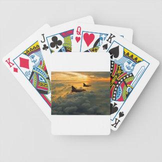 Vôo elétrico inglês do por do sol do relâmpago cartas de baralhos