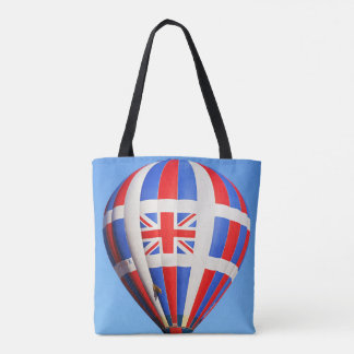 Vôo Reino Unido por todo o lado na sacola do Bolsa Tote