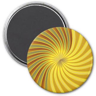Vortex espiral do ouro do ímã ímã redondo 7.62cm