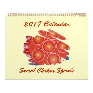 Vortex sacral alaranjado de Chakra de 2017 Calendário