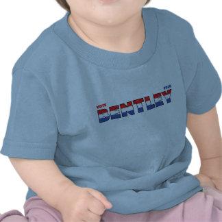Voto Bentley 2010 eleições branco e azul vermelhos Camisetas