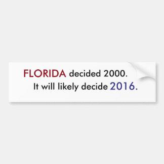 Voto de Florida Adesivo Para Carro