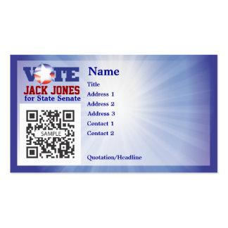 Voto do modelo de cartão de negócios modelos cartoes de visitas