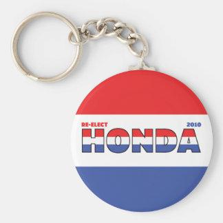 Voto Honda 2010 eleições branco e azul vermelhos Chaveiro