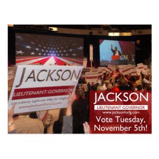 Voto Jackson para o Lt. Cartão do governador