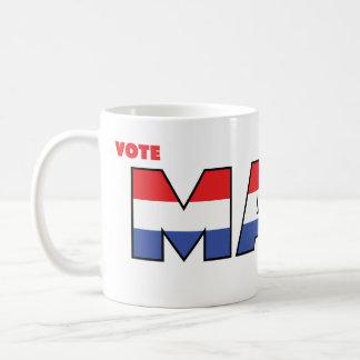 Voto Maes 2010 eleições branco e azul vermelhos Caneca