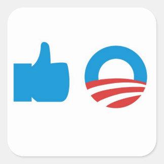 Voto Obama Adesivo Quadrado