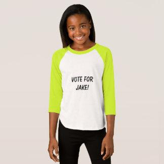 Voto para a camisa da menina do miúdo de Jake