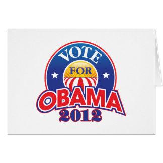 Voto para Obama 2012 Cartão Comemorativo
