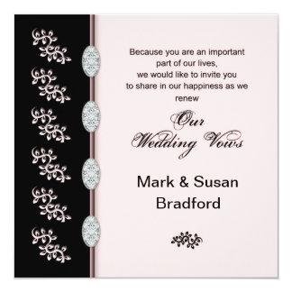 Votos de casamento de renovação - convite