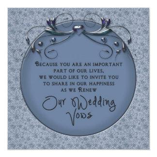 - Votos de casamento de renovação - convite floral