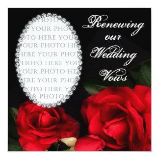 Votos de casamento de RENOVAÇÃO - convite - foto