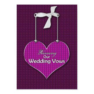 Votos de casamento de renovação - corações do convite 12.7 x 17.78cm