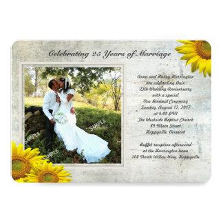 Votos de casamento de renovação da foto do Grunge Convite 12.7 X 17.78cm