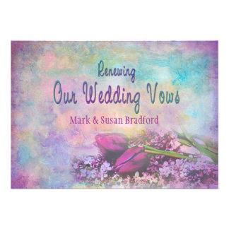 Votos de casamento de renovação - elegância floral