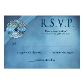 Votos de casamento de renovação - elegante azul - convite 8.89 x 12.7cm