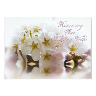 Votos de casamento de renovação - flores de convite