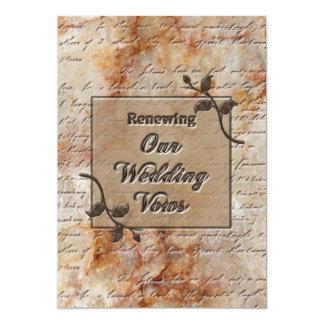 Votos de casamento de renovação Invitgation - Convite 12.7 X 17.78cm
