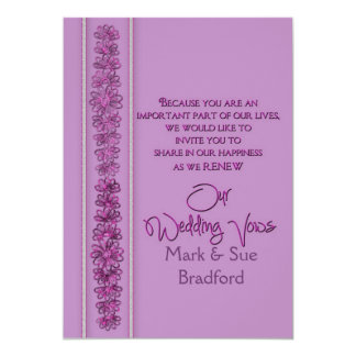 Votos de casamento de renovação - orquídea convite 12.7 x 17.78cm